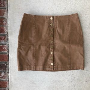 || Free People || Faux Leather Mini Skirt